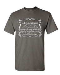 2nd Amendment T-Shirt Freedom Right to Bear Arms Constitution Mens Tee Shirt
