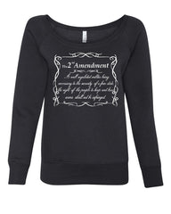 2nd Amendment Women's Sweatshirt Freedom Right to Bear Arms Constitution