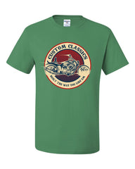 Custom Classics T-Shirt Chopper Bobber Biker Rte 66 Live to Ride Tee Shirt