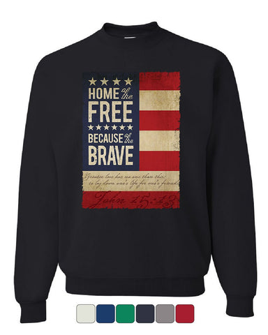 Home of the Free Sweatshirt Stars and Stripes American Patriot USA Sweater