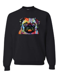 Adorable Cute Pug Sweatshirt Dean Russo Funny Colorful Neon Pet Pup Sweater