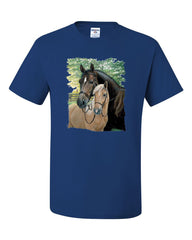 Pair of Horses T-Shirt Mustangs Horseback Riding Pony Stallion Tee Shirt