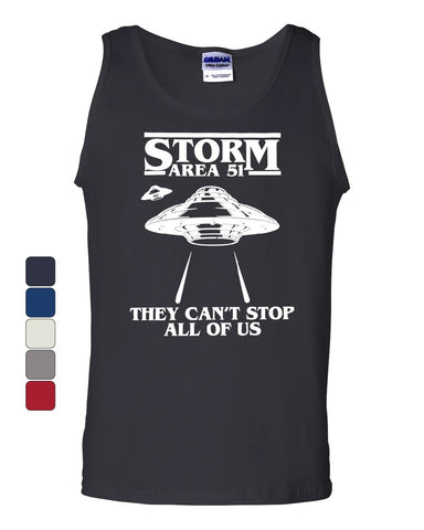Storm Area 51 They Can't Stop All of Us Tank Top Flying Saucer Sleeveless