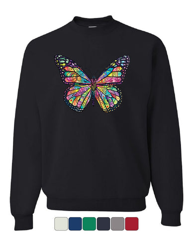 Dean Russo Butterfly Sweatshirt Multicolor Summer Wings Monarch Sweater