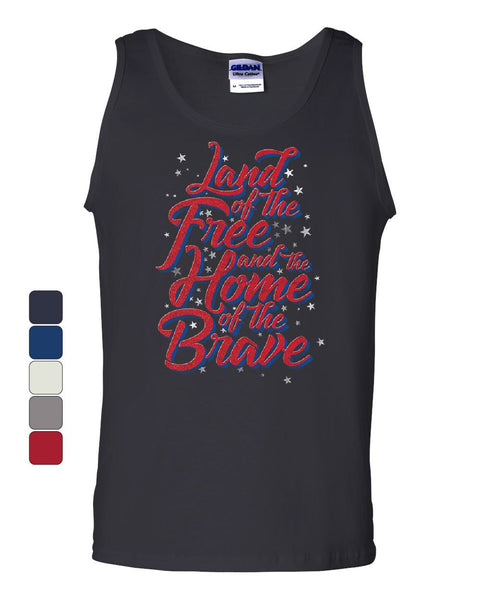 295fc139e56f2 Land of the Free Home of the Brave Tank Top 4th of July Patriotic Slee