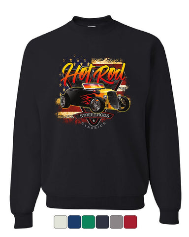 1933 Roadster Hot Rod American Flag Sweatshirt Street Rods Classics Sweater