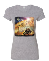 Constitution We the People Women's T-Shirt USA Democracy Independence Shirt