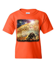 Constitution We the People Youth T-Shirt USA Democracy Independence Kids Tee