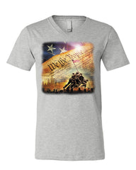 Constitution We the People V-Neck T-Shirt USA Democracy Independence Tee