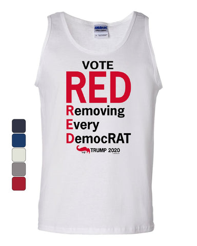 Vote Red Removing Every DemocRAT Tank Top MAGA Donald Trump 2020 Sleeveless