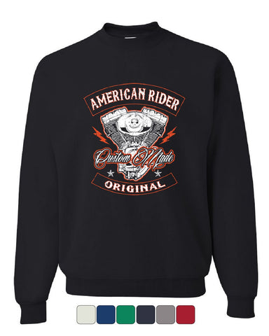 American Rider Sweatshirt Custom Made Motorcycle Route 66 Sweater