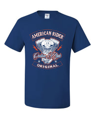 American Rider T-Shirt Custom Made Motorcycle Route 66 Tee Shirt