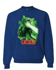 Catzilla Funny Parody Sweatshirt Cat Kitten Pet Atomic Breath Sweater