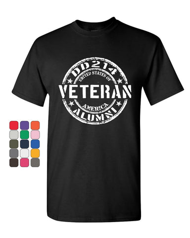 DD214 Veteran T-Shirt Military Service Duty Support Our Troops Mens Tee Shirt