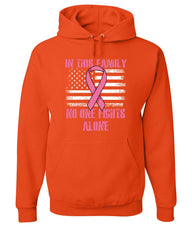 No One Fights Alone Hoodie Breast Cancer Awareness Family Cure Sweatshirt
