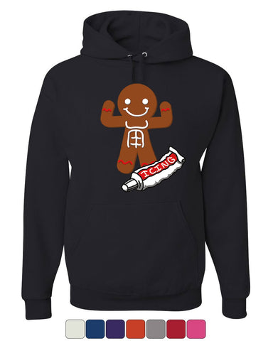 Gingerbread Man Icing Abbs Hoodie Funny Christmas Holiday Xmas Sweatshirt