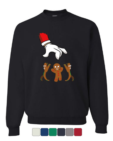 Santa Grabbing a Gingerbread Man Sweatshirt Christmas Xmas Holiday Sweater