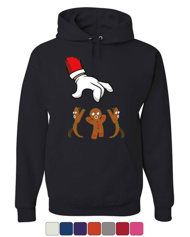 Santa Grabbing a Gingerbread Man Hoodie Christmas Xmas Holiday Sweatshirt
