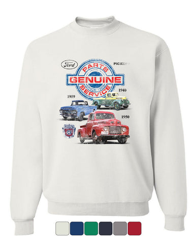 Ford Pickups Sweatshirt Genuine Parts American Classic Offroad Mud Sweater
