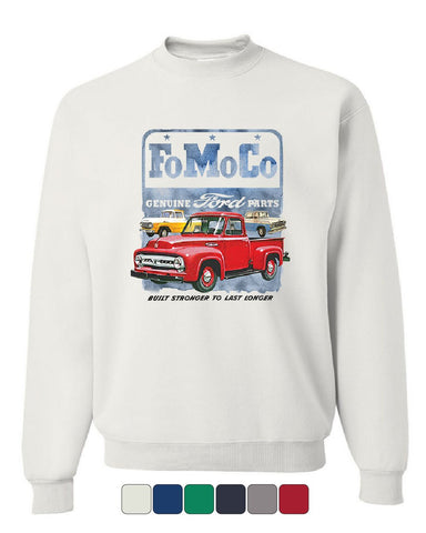 FoMoCo Ford Motor Company Sweatshirt Built Stronger to Last Longer Sweater