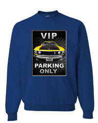 Ford Mustang VIP Parking Only Sweatshirt Yellow Boss 302 Muscle Car Sweater