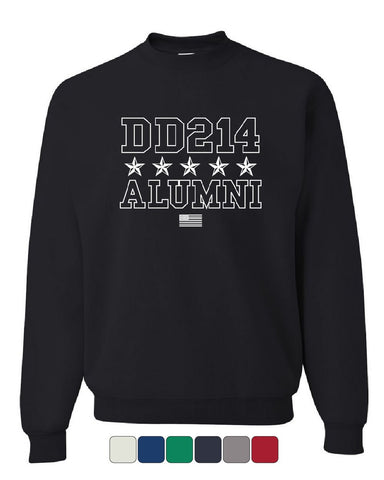DD214 Alumni Sweatshirt Patriotic Military Soldier Veteran US Flag Sweater