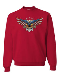 Liberty or Death American Bald Eagle Sweatshirt Patriot USA Freedom Sweater