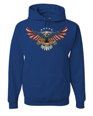 Liberty or Death American Bald Eagle Hoodie Patriot USA Freedom Sweatshirt