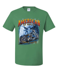 American by Birth Biker by Choice T-Shirt Route 66 Bald Eagle Tee Shirt