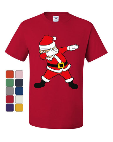 Dabbing Santa T-Shirt Holly Jolly Christmas Holiday Spirit Xmas Tee Shirt