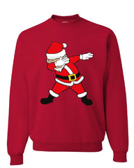Dabbing Santa Sweatshirt Holly Jolly Christmas Holiday Spirit Xmas Sweater