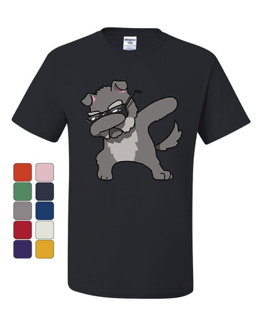 Dabbing Dog in Glasses T-Shirt Doggie Dab Pet Lovers Pup Puppy Tee Shirt
