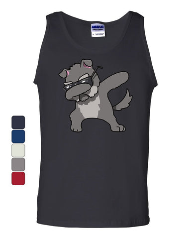 Dabbing Dog in Glasses Tank Top Doggie Dab Pet Lovers Pup Puppy Sleeveless