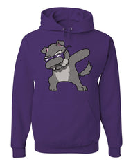 Dabbing Dog in Glasses Hoodie Doggie Dab Pet Lovers Pup Puppy Sweatshirt