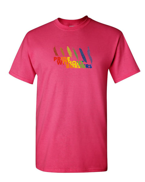 965b04c0677a ... Pride Without Borders Rainbow Glitter T-Shirt Gay LGBTQ Equality Mens  Tee Shirt ...