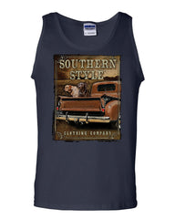 Southern Style Tank Top Truck Country Farm Labrador Retriever Sleeveless