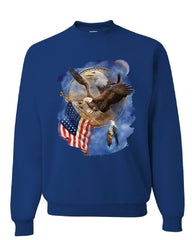 American Bald Eagle Holding a Flag Sweatshirt Patriot Dreamcatcher Sweater