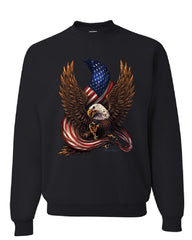 USA Stars and Stripes Sweatshirt Patriot American Pride Bald Eagle Sweater
