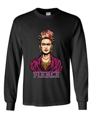 Frida Kahlo Long Sleeve T-Shirt Fierce Mexican Pop Culture Feminism Artist Tee