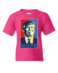 Donald Trump Nope Youth T-Shirt Anti Trump Parody Resist Impeachment Kids Tee