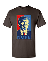 Donald Trump Nope T-Shirt Anti Trump Parody Resist Impeachment Mens Tee Shirt