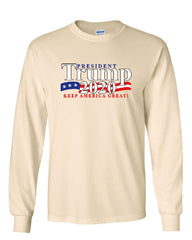 President Trump Long Sleeve T-Shirt 2020 Keep America Great The Donald MAGA Tee