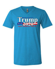 President Trump V-Neck T-Shirt 2020 Keep America Great The Donald MAGA Tee