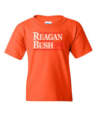 Reagan Bush '84 Youth T-Shirt Ronald American President History GOP Kids Tee