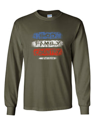 God Family Country Est. 1776 Long Sleeve T-Shirt 4th of July American Pride Tee