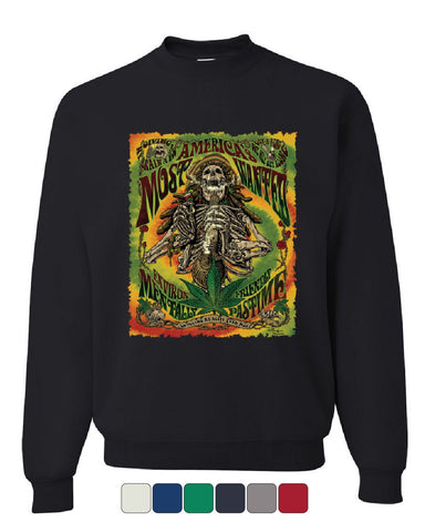 America's Most Wanted Sweatshirt 420 Smoking Weed Marijuana Rasta Sweater