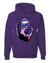 Cat Catching a Sandwich Hoodie Plasma Ball Kitty Kitten Weird Sweatshirt