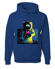 Neon Astronaut Hoodie Moon Landing Space Travel Universe Earth Sweatshirt