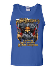 Protected by God and Guns Tank Top Plead 2nd Amendment Bear Arms Sleeveless