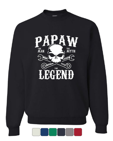 Papaw The Man The Myth The Legend Sweatshirt Grandpa Father's Day Sweater